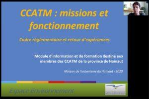Image d'inrtoduction de la formation sur les missions et fonctionnement d'une CCATM